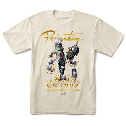 Primitive x Naruto3 Kakashi Dogs Squad Tshirt Crm