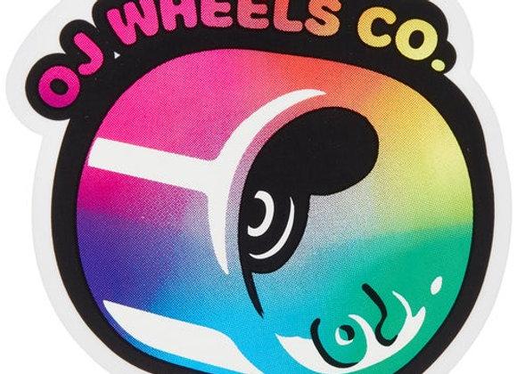 OJ Hot Juice Fade Sticker 8cm