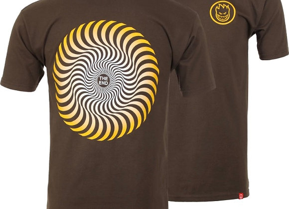 Spitfire T-shirt Classic Swrl fd d.chclt