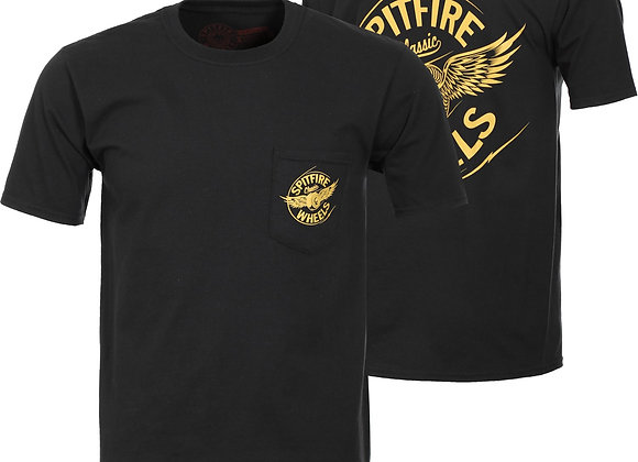 Spitfire Flying Classic Pocket Tshirt Blk