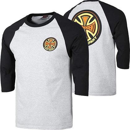 Independent Cross 78 Shirt Raglan Gry Blk