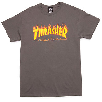 Thrasher Flame Logo T-shirt gry