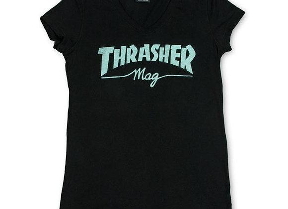 Thrasher Skate Mag V Neck blk