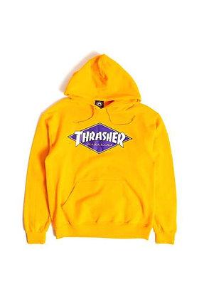 Thrasher Diamond Logo Hood Ylw
