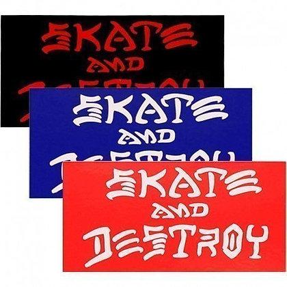 Thrasher  Skate and Destroy Sticker 15x8 cm