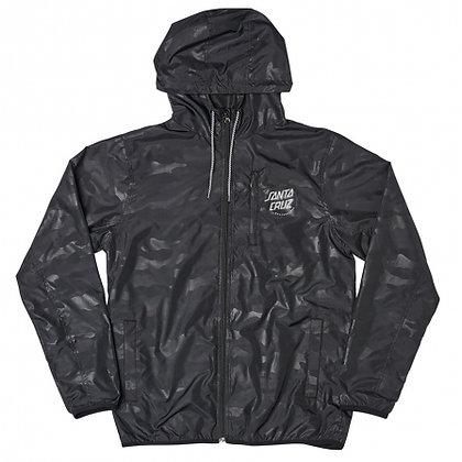Santa Cruz Partial Dot Windbreaker Jacket Camo Blk