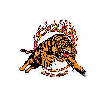 Santa Cruz Salba Tiger Sticker 4 in x 3.5 in.