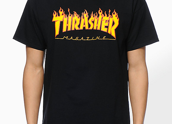 Thrasher Flame Logo T-shirt blk
