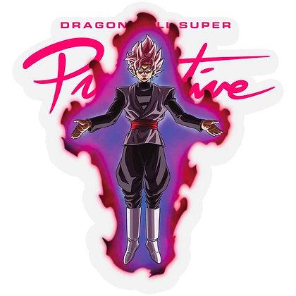 Primitive X DBS Nuevo Goku Black Rose Sticker