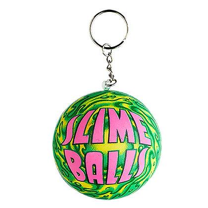 Santa Cruz Slime Balls Squishy Keychain Grn