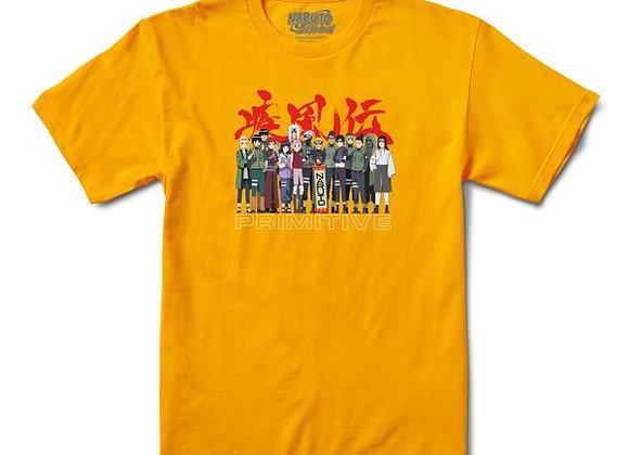 Primitive X Naruto Leaf Village Tshirt Gld