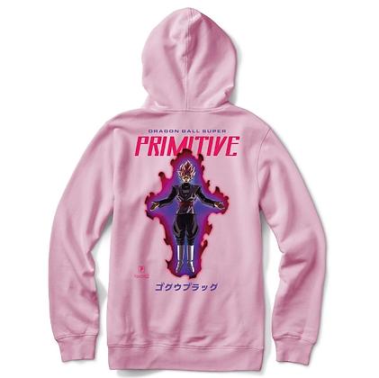 Primitive X DBS Goku Black Rose Hood Pnk