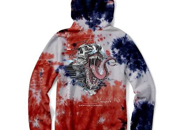 Primitive X Marvel Venom Washed Hood Blu