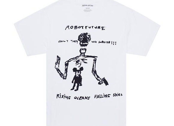 Fucking Awesome Robot Future Tshirt Wht