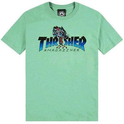 Thrasher Leopard Mag Tshirt Mint