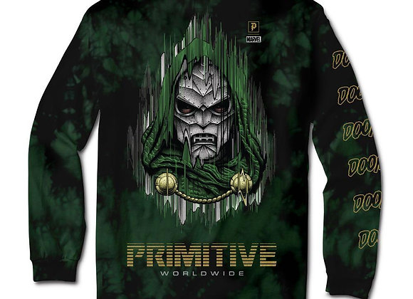 Primitive X Marvel Doom Washed Shirt LS Grn