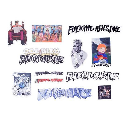Fucking Awesome Sticker 12  Pack 2 Assorted