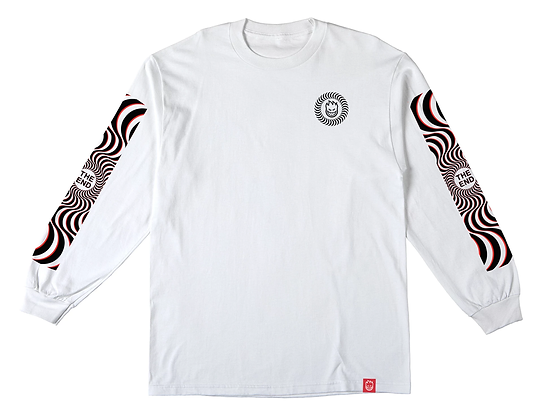 Spitfire Classic Swirl Slave Shirt LS Wht