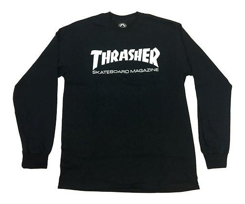 Thrasher Skate Mag Shirt LS Blk