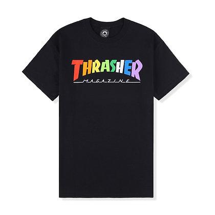 Thrasher Rainbow Mag Tshirt Blk