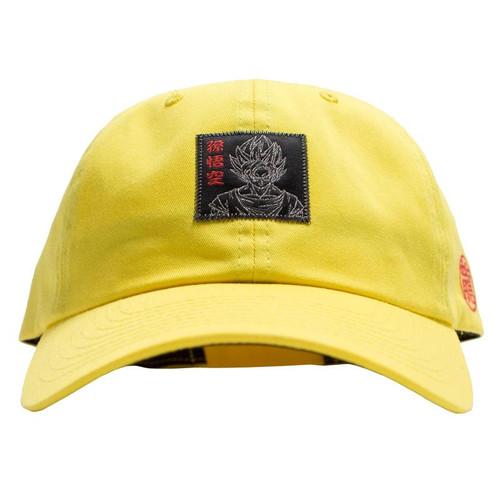 460b49aadefef PRIMITIVE x Dragon Ball DBZ Goku Reflective Dad Hat Yellow.