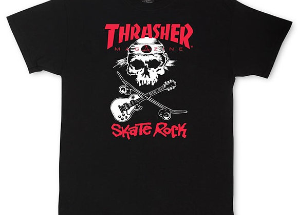 Thrasher Skate Rock Tshirt Blk