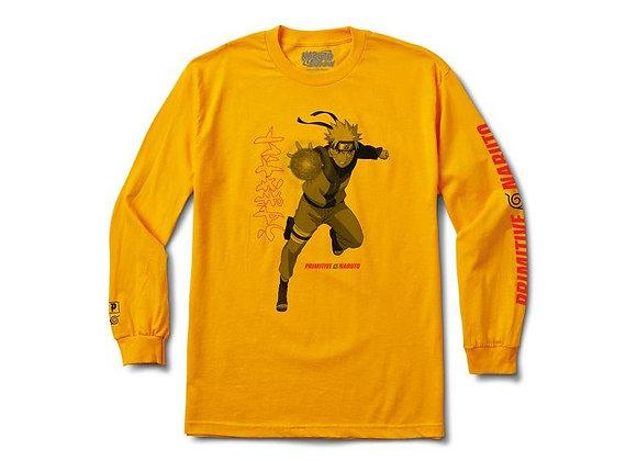 Primitive X Naruto Jutsu Shirt LS Gld