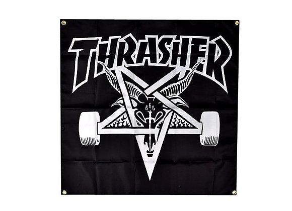 Thrasher Skategoat Banner Blk
