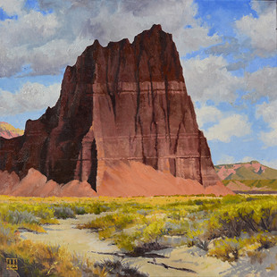 Temple Emerging In Sunlight, Capitol Reef