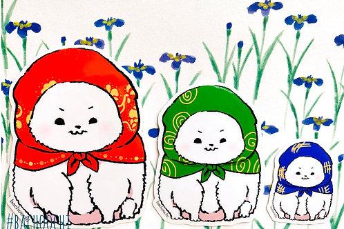 Babushka Matryoshka Dogs Vinyl Sticker Laptop Decal