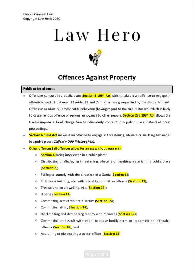 Chap 6 Offences against property