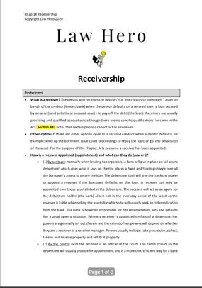 Chap 14 Receivership