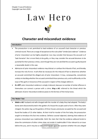 Chap 5 Character and misconduct evidence