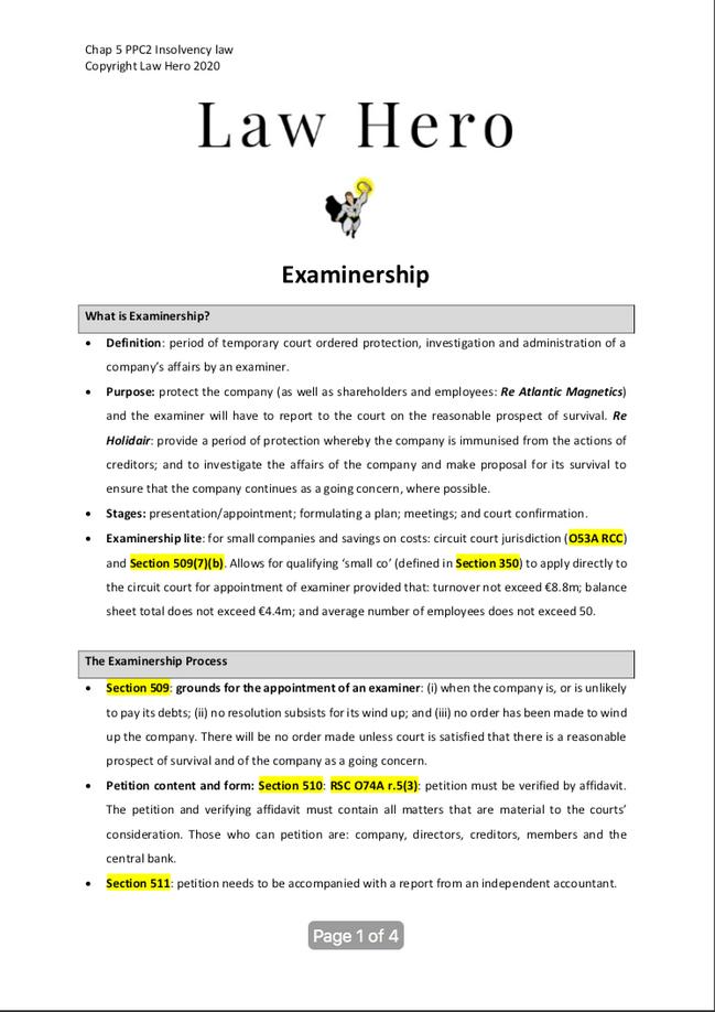 Chap 5 Examinership
