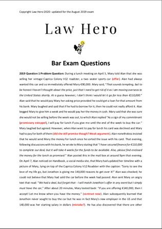 Chap 10 Bar exams questions