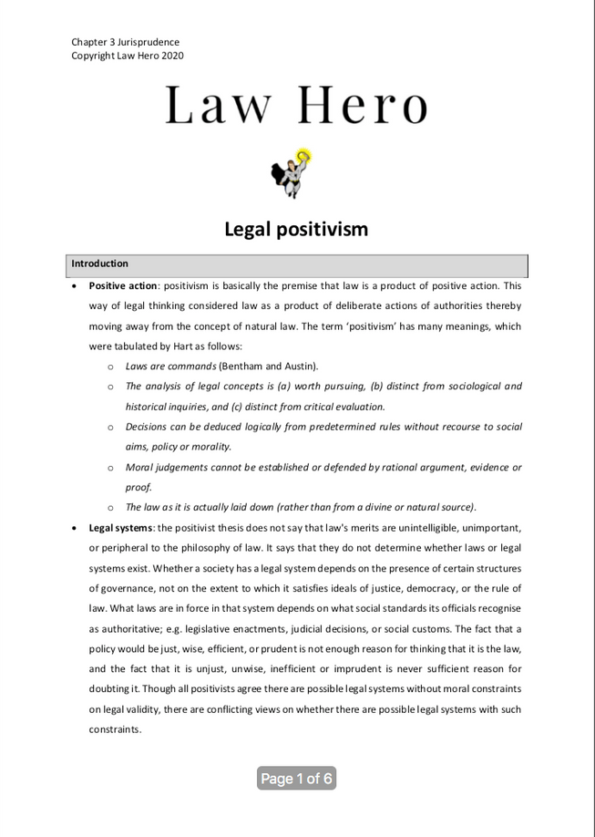 Chapter 3 Legal positivism