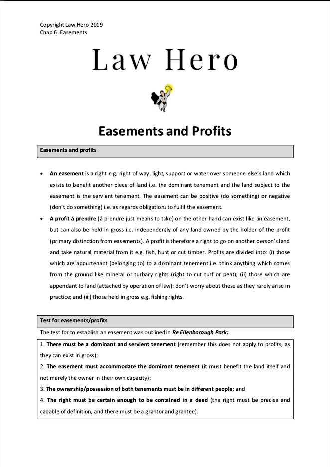 Chapter 6 Easements and Profits