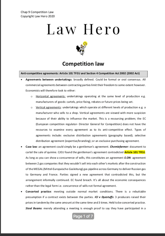 Chap 9 Competition Law