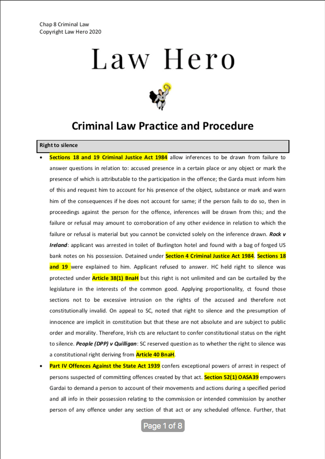 Chap 8 Criminal Law Practice and Procedure