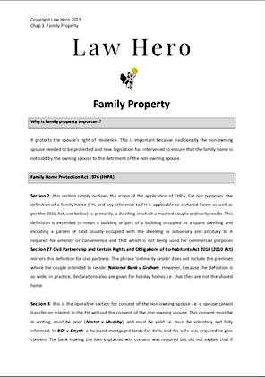 Chapter 3 Family Property