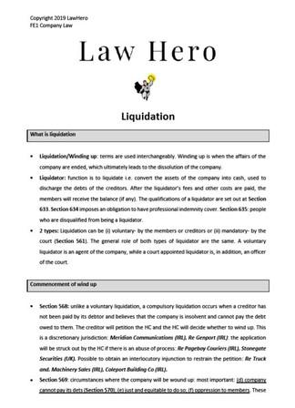 Company Law Liquidation