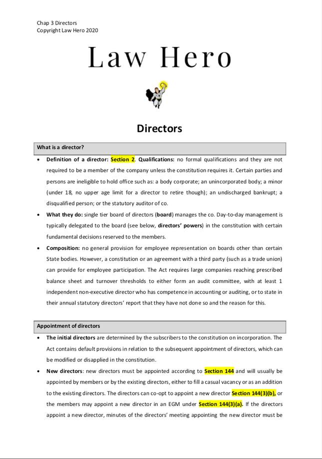 Chap 3 Directors