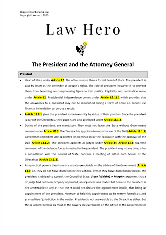 Chap 4 The President and the AG