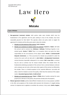 Chap 5 Mistake
