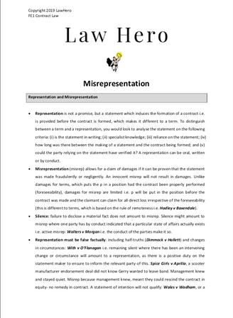 Chap 4 Misrepresentation