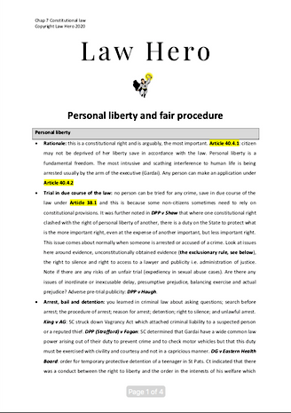 Chap 7 Personal liberty and fair procedure