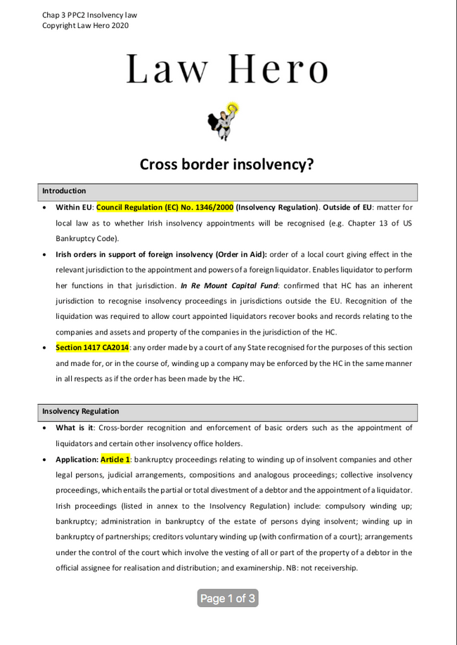 Chap 3 Cross border insolvency