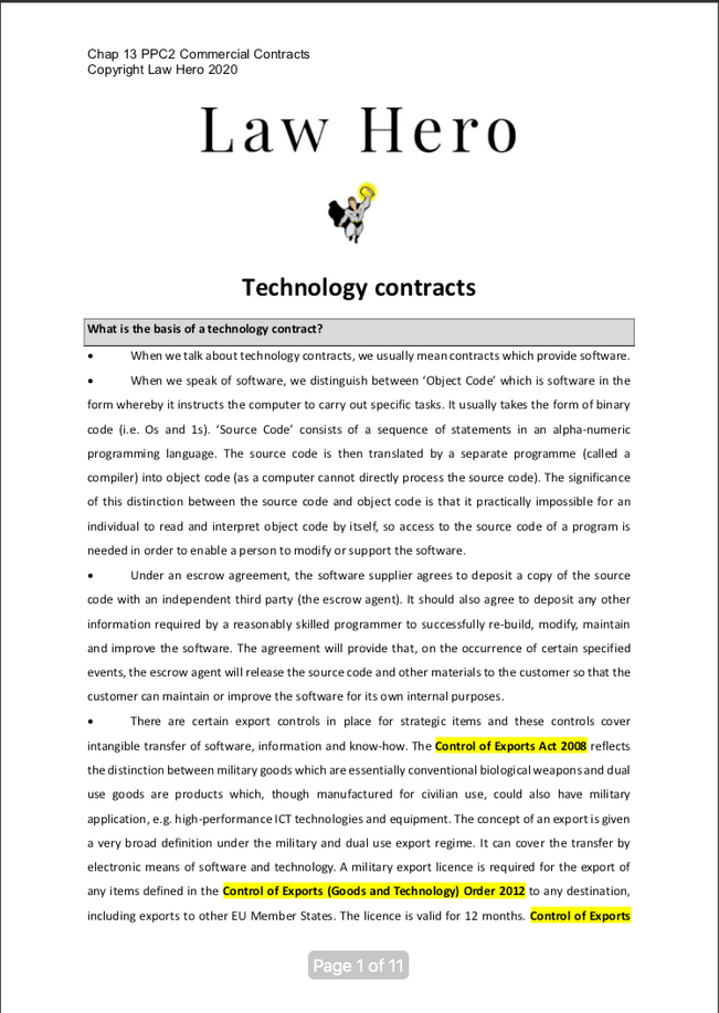 Chap 13 Technology contracts
