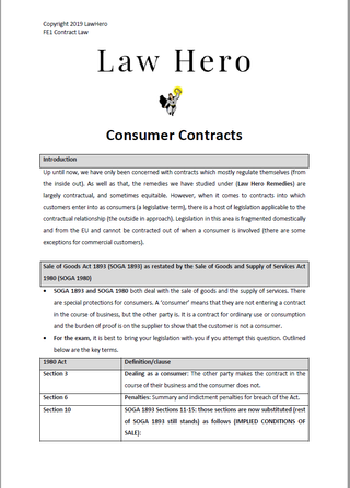Consumer Contracts