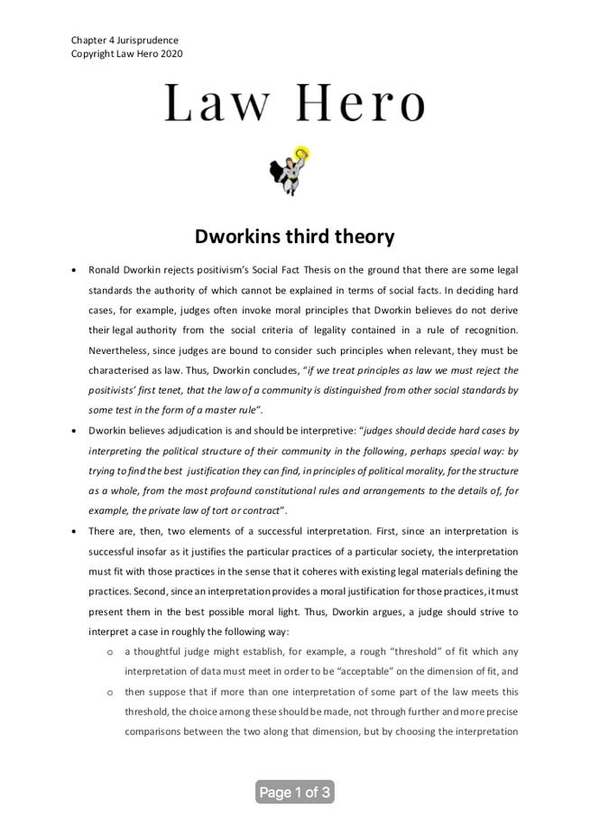 Chapter 4 Dworkins third theory